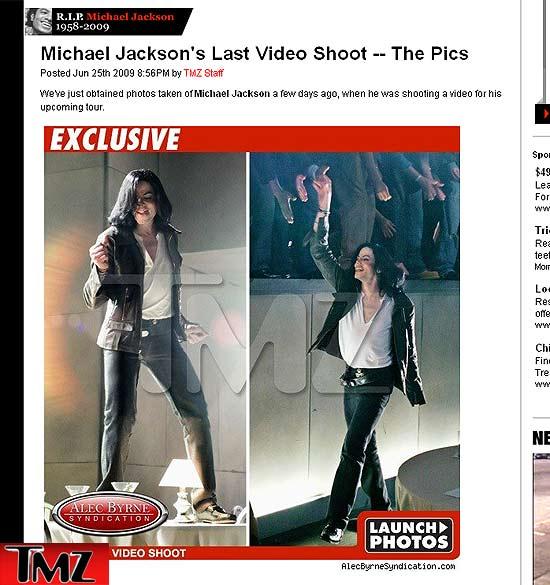 Michael Jackson fotos do ensaio